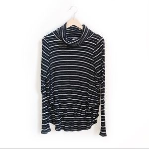 We The Free Black & White Striped Drippy Thermal